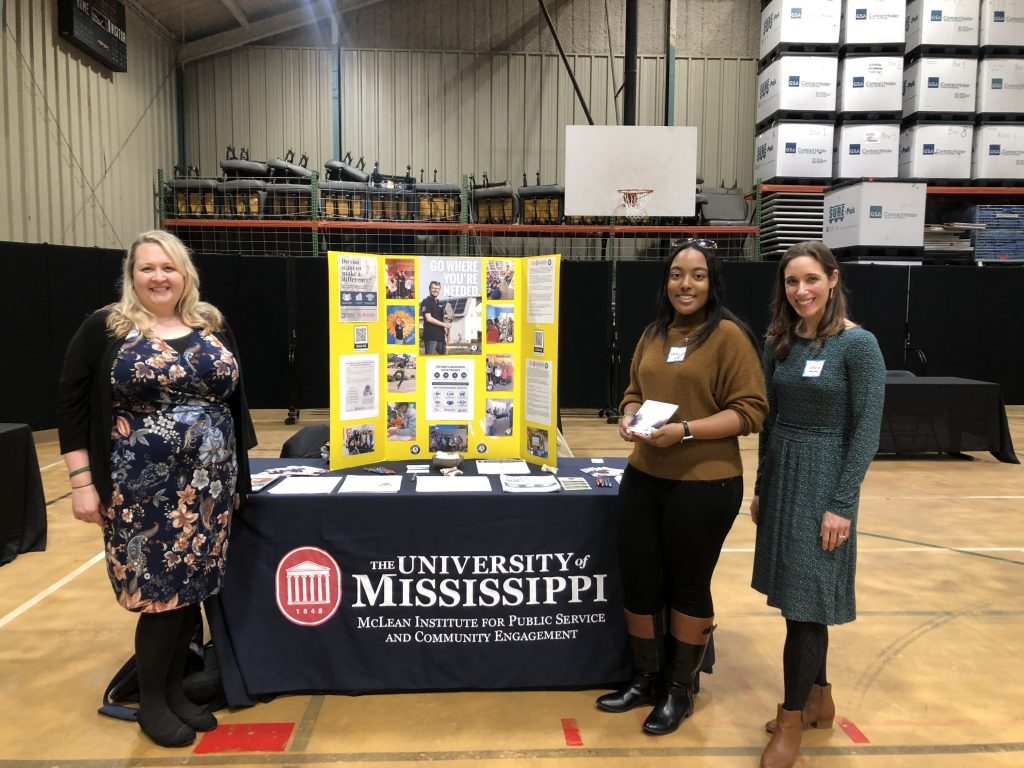 NMVP Leadership at NCCC recruitment fair - February 2020
